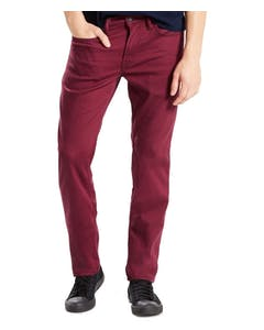 Men's Levi's 511 Slim Fit Stretch Jeans - Burgundy Red