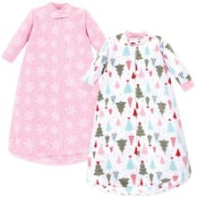 Hudson Baby Size 0-9M 2-Pack Tree Wearable Blankets in Green