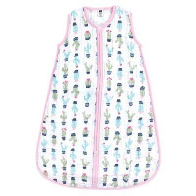 Hudson Baby Size 12-18M Cactus Muslin Sleeping Bag in Green/Pink