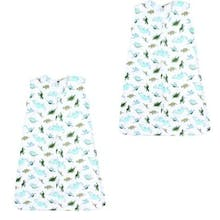 Hudson Baby Size 0-6M 2-Pack Dinosaurs Sleeping Bags in Green