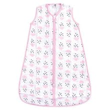 Hudson Baby Size 18-24M Clouds & Hearts Muslin Sleeping Bag in Pink