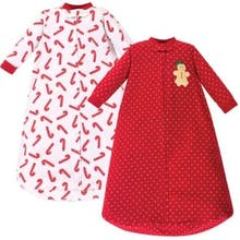Hudson Baby Size 0-9M 2-Pack Sugar Wearable Blankets in Red