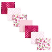 Hudson Baby 7-Pack Rose Flannel Receiving Blankets in Pink