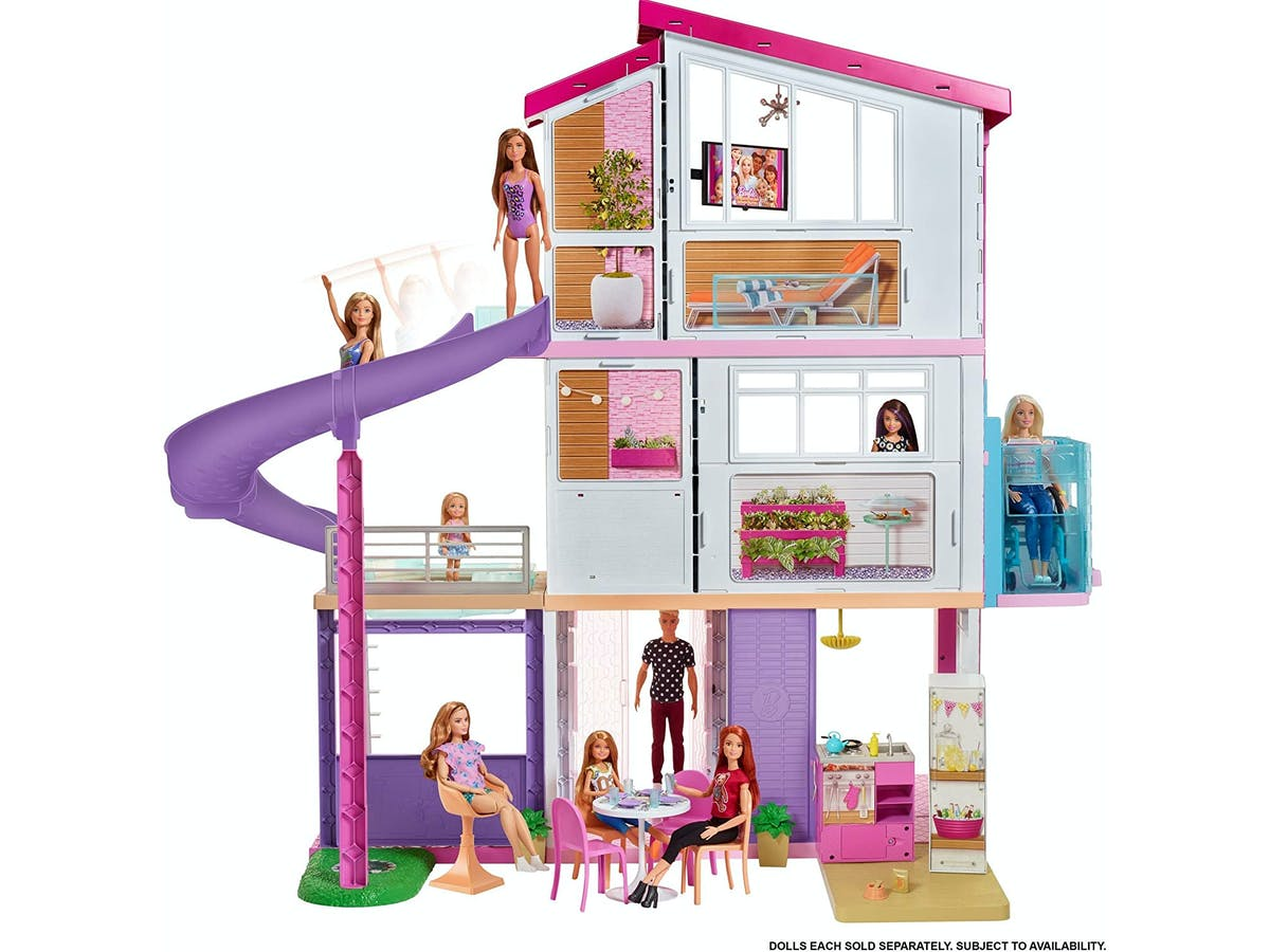 Barbie Dreamhouse Dollhouse with Wheelchair Accessible Elevator, Pool, Slide and 70 Accessories Including Furniture and Household Items