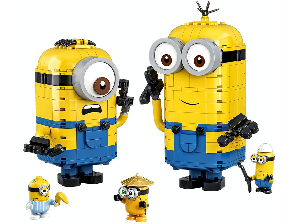 LEGO Minions: Brick-Built Minions and Their Lair (75551) Building Kit for Kids